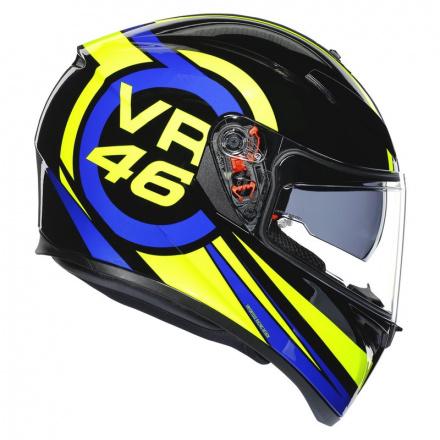 AGV K3 SV Ride 46, Zwart-Blauw-Geel (5 van 7)