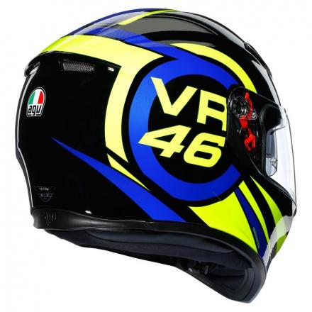 AGV K3 SV Ride 46, Zwart-Blauw-Geel (6 van 7)