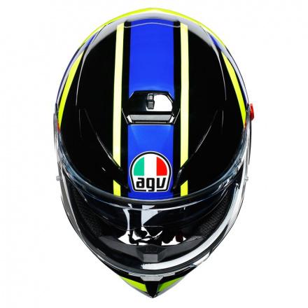 AGV K3 SV Ride 46, Zwart-Blauw-Geel (7 van 7)