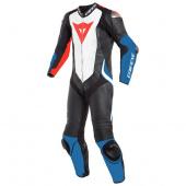Laguna Seca 4 1pc Perf. Leather Suit - Zwart-Wit-Blauw