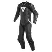 Laguna Seca 4 1pc Perf. Leather Suit - Zwart-Wit
