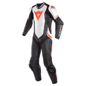 Laguna Seca 4 1pc Perf. Leather Suit - Zwart-Wit-Rood