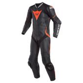 Laguna Seca 4 1pc Perf. Leather Suit - Zwart-Rood