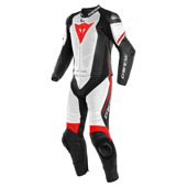 Laguna Seca 4 1pc Perf. Leather Suit - Wit-Zwart-Rood