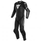 Laguna Seca 4 2pcs Suit - Mat Zwart-Wit