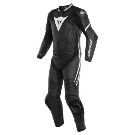 Laguna Seca 4 2pcs Perf. Suit - Mat Zwart-Wit
