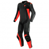 Assen 2 1 Pc. Perf. Leather Suit - Zwart-Rood