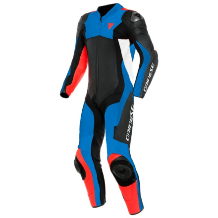 Assen 2 1 Pc. Perf. Leather Suit - Zwart-Blauw-Rood