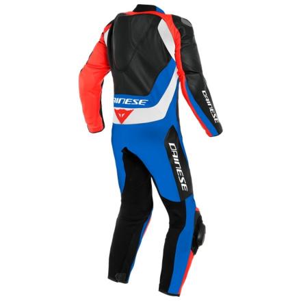 Dainese Assen 2 1 Pc. Perf. Leather Suit, Zwart-Blauw-Rood (2 van 2)
