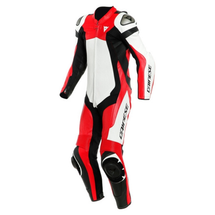 Assen 2 1 Pc. Perf. Leather Suit - Wit-Rood-Zilver
