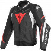 Super Speed 3 Perf. Leather Jacket - Zwart-Wit-Rood