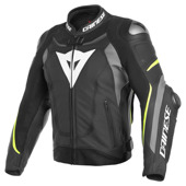 Super Speed 3 Perf. Leather Jacket - Zwart-Grijs-Geel