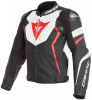 Avro 4 Perf. Leather Jacket - Mat zwart-Wit-Rood