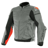 Super Race Perf. Leather Jacket - Grijs-Rood