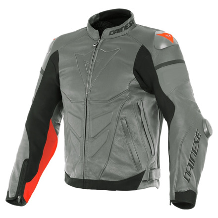 Dainese Super Race Perf. Leather Jacket, Grijs-Rood (1 van 2)