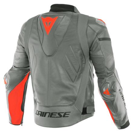 Dainese Super Race Perf. Leather Jacket, Grijs-Rood (2 van 2)
