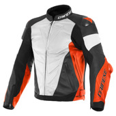 Super Race Perf. Leather Jacket - Wit-Rood-Zwart