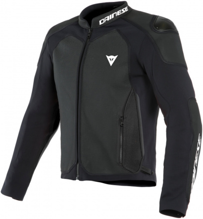 Dainese Intrepida Perf. Leather Jacket, Mat Zwart (1 van 2)