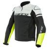 Agile Leather Jacket - Zwart-Wit-Geel
