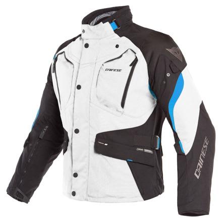 Dolomiti Gore-tex textiele motorjas - Zwart-Grijs-Blauw