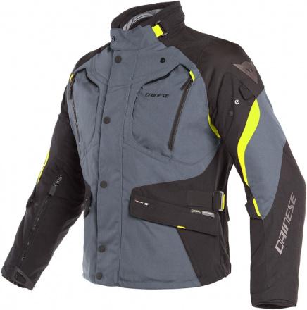 Dolomiti Gore-tex textiele motorjas - Zwart-Grijs-Geel