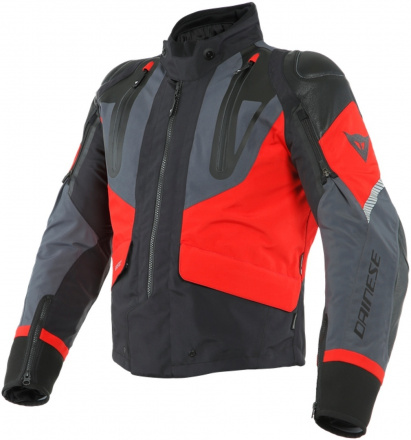 Sport Master Gore-tex textiele motorjas - Zwart-Grijs-Rood
