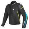 Dainese Super Rider D-dry Jacket, Zwart-Blauw-Geel (Afbeelding 1 van 2)