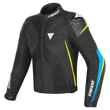 Dainese Super Rider D-dry Jacket, Zwart-Blauw-Geel (1 van 2)