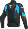 Dainese Super Rider D-dry Jacket, Zwart-Blauw-Geel (Afbeelding 2 van 2)