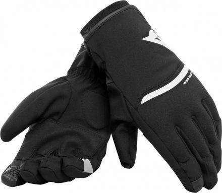 Dainese Plaza 2 Unisex D-Dry Motorhandschoenen, Zwart-Wit (1 van 1)