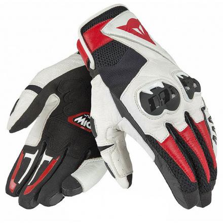 Mig C2 Unisex Motorhandschoen - Zwart-Wit-Rood