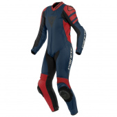 Killalane 1 Pc. Perf. Lady Leather Suit - Zwart-Rood-Blauw
