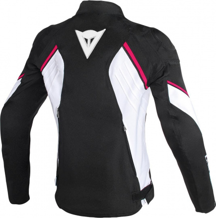 Dainese Avro D2 Textiele dames Jas, Zwart-Wit-Roze (2 van 2)