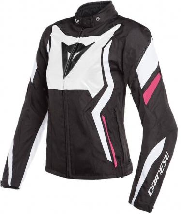 Dainese Edge Lady Tex Jacket, Zwart-Wit-Roze (1 van 2)