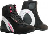 Motorshoe D1 Air Lady schoenen - Zwart-Wit-Roze