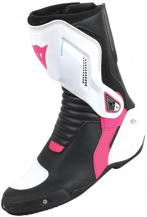 Nexus Dames Motorlaarzen - Zwart-Wit-Roze