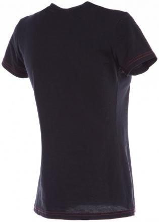 Dainese Speed Demon Lady T-shirt, Zwart-Rood (2 van 2)