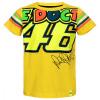 Dainese The Doctor 46 Kid T-shirt, Geel (Afbeelding 1 van 2)