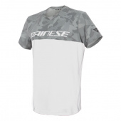 CAMO-TRACKS T-SHIRT - Wit-Antraciet