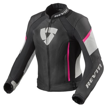 REV'IT! Jacket Xena 3 Ladies, Zwart-Roze (1 van 2)