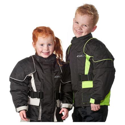 GC Bikewear Kids motorjas, Zwart-Fluor (3 van 3)
