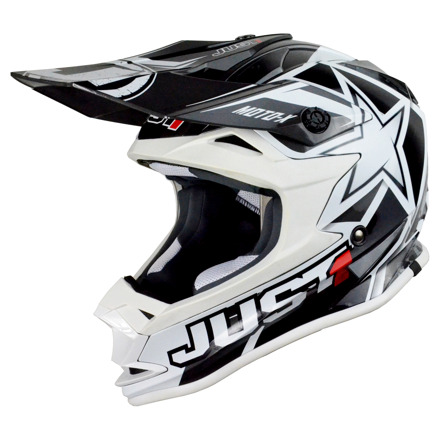 JUST1 J32 Pro Moto X Kids - Zwart-Wit