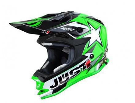 JUST1 J32 Pro Moto X - Zwart-Groen-Wit