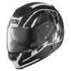 IXS Integraalhelm HX 215 Speed Race, Zwart-Wit (Afbeelding 1 van 2)