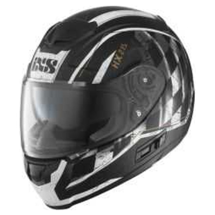 IXS Integraalhelm HX 215 Speed Race, Zwart-Wit (1 van 2)