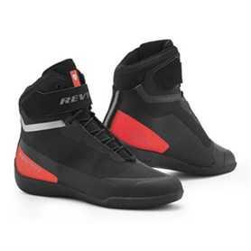 Mission Motorschoenen - Zwart-Neon Rood