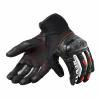 REV'IT! Gloves Metric, Zwart-Rood (Afbeelding 2 van 2)