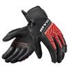 REV'IT! Gloves Sand 4, Zwart-Rood (Afbeelding 1 van 2)