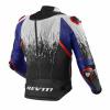 REV'IT! Jacket Quantum 2 Pro Air, Wit-Blauw (Afbeelding 2 van 2)