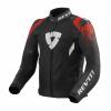 REV'IT! Jacket Quantum 2 Air, Zwart-Rood (Afbeelding 1 van 2)